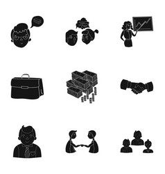 a set of pictures about the transaction work vector image