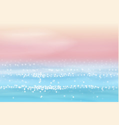 sea view in realistic style vector image