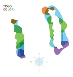 Abstract color map of togo vector
