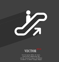 Elevator escalator staircase icon symbol flat vector