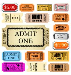 Ticket admit one vector