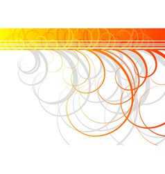 Swirl background in orange color vector
