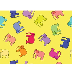 Elephants seamless vector
