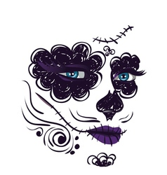 Day of dead girl face7 vector