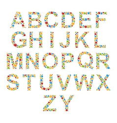 Alphabets Set letters of stylized colorful bubbles vector image