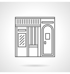 Music store facade flat line icon vector