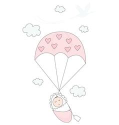 New baby girl vector