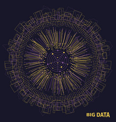 Big data visualization structure made in lines vector