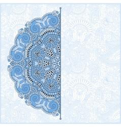 blue colour floral round pattern vector image