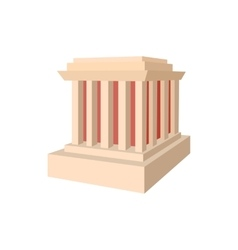 Building with columns icon cartoon style vector