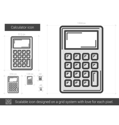Calculator line icon vector