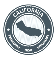 California state silhouette - stamp vector