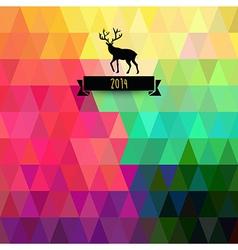 Christmas greeting card Triangles Christmas tree vector image