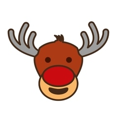 christmas reindeer character isolated icon vector image vector image
