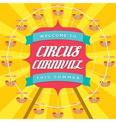 Circus carnival poster template vector