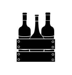 Contour different wine bottles icon vector