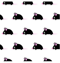 cute kid mice design seamless pattern vector image