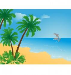dolphin sea vector image vector image