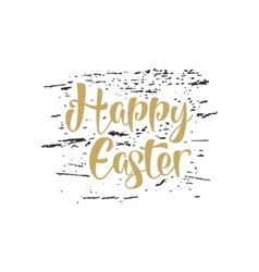 Easter lettering sign - Happy Easter Easter vector image vector image
