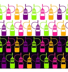 Endless background of bottle vector