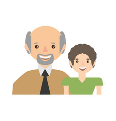 grandpa with grandson happy together vector image
