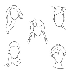 hair style vector image
