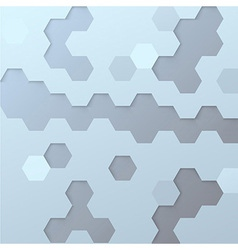 Hexagon tile background template vector image vector image