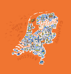 holland map vector image