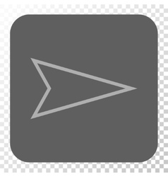 Pointer Right Rounded Square Button vector image vector image