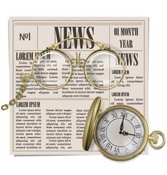 Retro newspaper concept vector