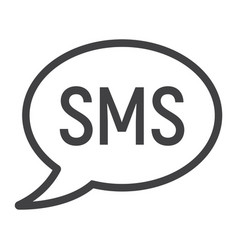 sms line icon web and mobile message sign vector image