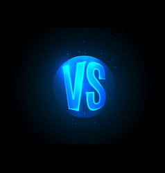 Versus icon vs letters is into round circle vector