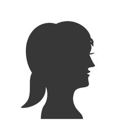 woman head profile silhouette icon vector image vector image