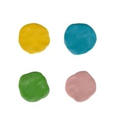 Clay circles colorful plasticine stains vector