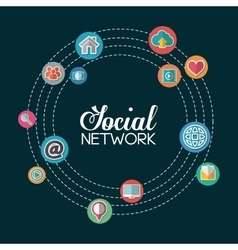 Social network set design vector