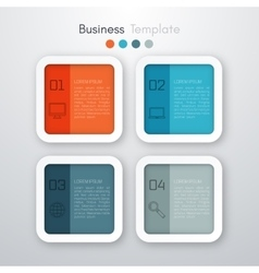 Four square infographics vector