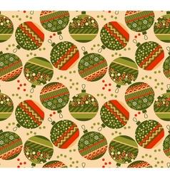 Cute ornament patchwork xmas bubbles seamless vector