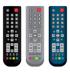 Remote control in colorful isolated on white vector