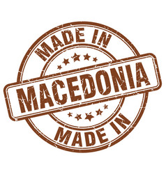 Made in macedonia brown grunge round stamp vector
