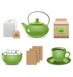 Tea icons vector