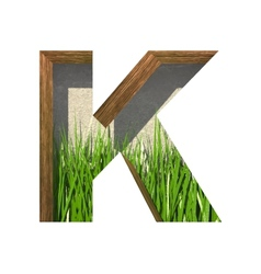 Grass cutted figure k paste to any background vector