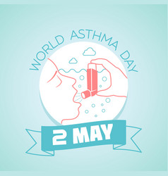 2 may world asthma day vector