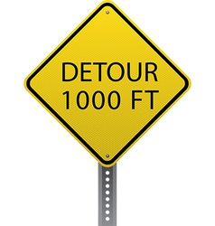 Detour 1000 ft sign vector