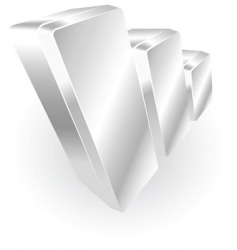 Silver metallic graph vector