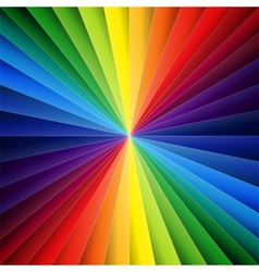 Rainbow colorful folded paper triangles background vector