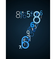 Number 7 font from numbers vector