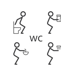 Toilet situation icon vector