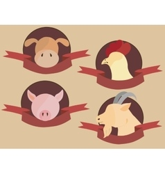 Meat label vector