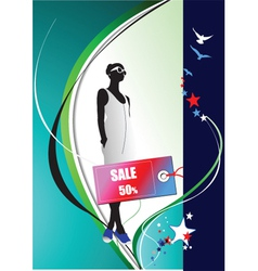 Fashion sale poster vector