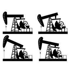 Oil derrick silhouette vector